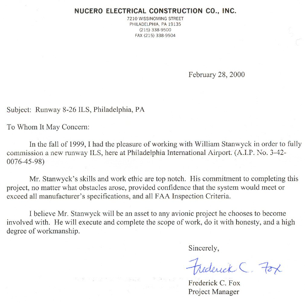 Nucero Electrical Construction Co Runway 8 26 ILS PhiladelphiaPA
